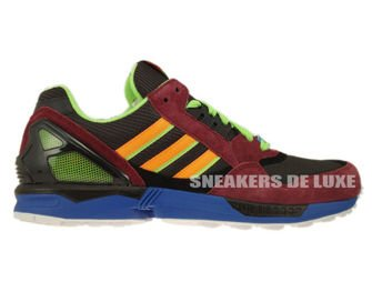 D65499 Adidas ZX 9000 Torsion Dark Brown/Macaw/Zest