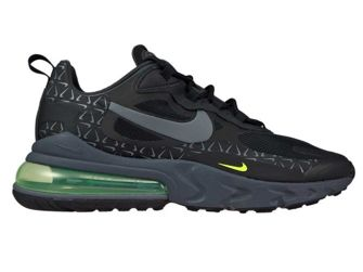 Nike Air Max 270 React CT2538-001 Black/Dark Grey-Volt