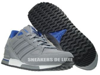 Q21311 Adidas ZX 750 Originals Tech Grey/Tech Grey/Color Royal