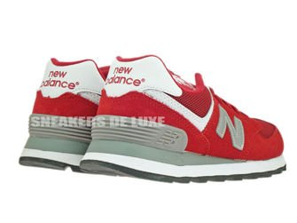 WL574SRG New Balance 574 Red / Grey Suede