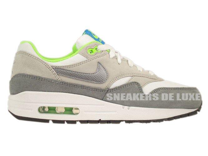 555766 104 Nike Air Max 1 WhiteMetallic Cool Grey Neutral