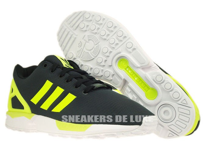 on sale 8a6f7 8de1a ... M21325 adidas ZX Flux Black  Electricity  Running White ...