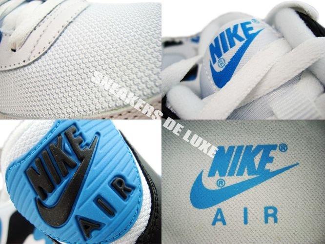 size 40 b8dc3 5d6b8 ... Nike Air Max 90 White Black-Zen Grey-Laser Blue 325018-108