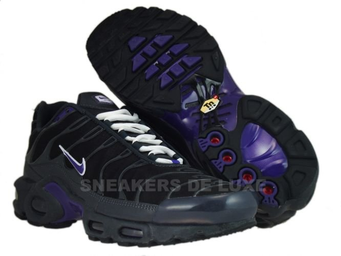 huge selection of 3ecfe 1d899 ... Nike Air Max Plus TN 1 Anthracite Club Purple-Black-White ...