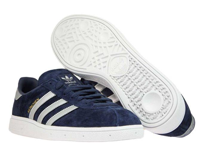 adidas Munchen CQ2321 Trace BlueMatte SilverFtwr White
