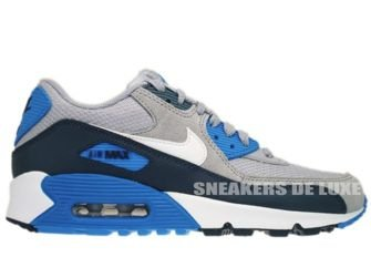 307793-083 Nike Air Max 90 Wolf Grey/White/-Armory Navy-Armory