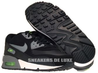 307793-085 Nike Air Max 90 Black/Cool Grey-Flash Lime-White