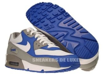 325018-054 Nike Air Max 90 Medium Grey/White-Varsity Royal