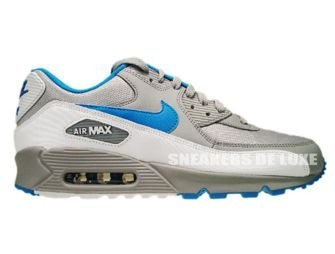 325018-096 Nike Air Max 90 Wolf Grey/Dynamic Blue-White