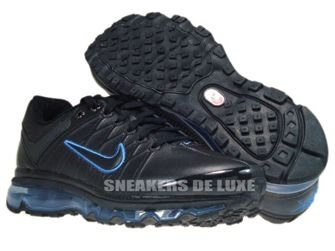 366718-008 Nike Air Max 2009+ Black/Black Blue Spark