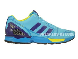 AF6303 adidas ZX Flux bright cyan / collegiate purple / bright yellow