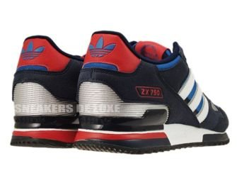 Adidas Originals ZX 750 Pool Blue White Silver Red G61242