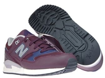 New Balance M530LGC Leather Burgundy with Navy & White