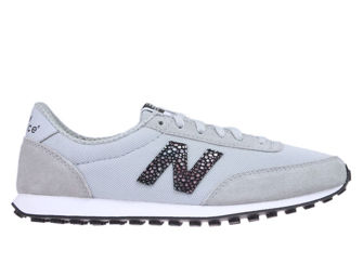 New Balance WL410BU Silver Mink with Black