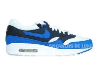 Nike Air Max 1 White/Signal Blue-Anthracite-Platinum 308866-109