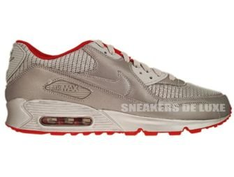 Nike Air Max 90 Metallic Silver/Sport Red