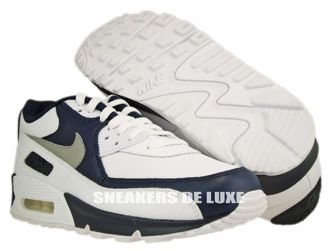 Nike Air Max 90 Premium White/Medium Grey/Obsidian 333888-103