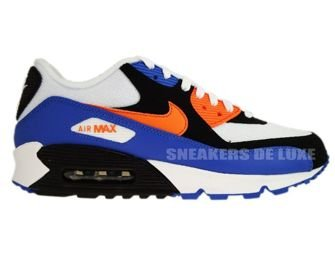 Nike Air Max 90 White/Bright Mandarin-Black